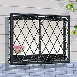 窓の防犯用面格子、クロス型