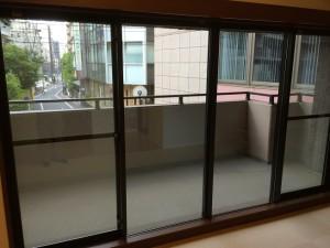 網入りの防火ガラス
