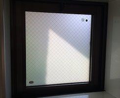 真空ガラス「スペーシア網入り」にガラスを交換