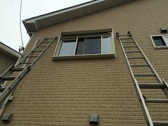 2階の窓にも足場なしで取付けできます!
