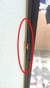 二重窓の枠変形