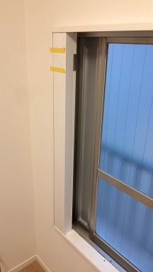 エアコンダクトを通して内窓