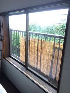 エコ引き違い雨戸設置前