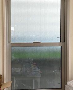 内窓設置前の上げ下げ窓