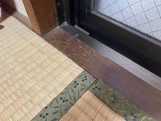 畳で内窓(二重サッシ)設置不可