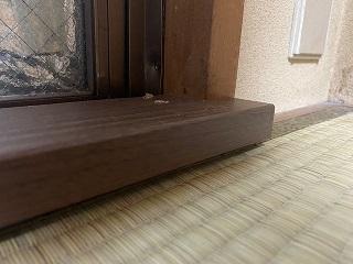 畳に内窓設置のための下地材