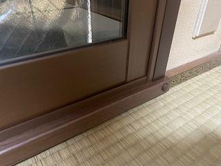畳の上にメルツエンサッシ